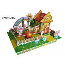 Colorful House Model 3D Jigsaw Puzzle Children Stereo Jigsaw Puzzle
