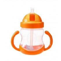 280ML Baby Water Bottle With Handle Useful Kids Training Bottle [Orange]