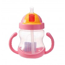 280ML Baby Water Bottle With Handle Useful Kids Training Bottle [Pink]