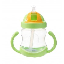 280ML Baby Water Bottle With Handle Useful Kids Training Bottle [Green]