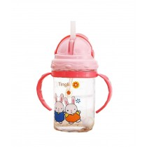 Useful Baby Drink Bottle With Handles Kids Home Water Cup 280ML