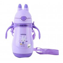 Purple Portable Kids Stainless Steel Vacuum Insulated Bottle 260 ML