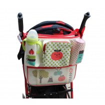 Durable Canvas Baby Stroller/Bed Organizer Storage Bag