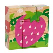 Three-Dimensional Building Blocks 9 Grains Puzzle Wood(3-6 Years)
