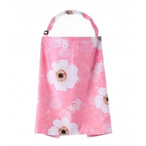 Pink Flower Baby Outdoor Nursing Cover Stroller Protector with Straps