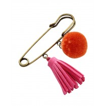 Cute Wool Ball  Brooch Pin for Girls and Women 4Pcs