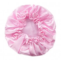 Set of 1 Double Layer Bath Caps Solid Color Pink