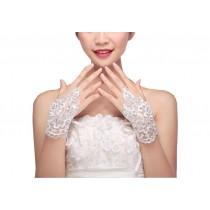 Elegant Lace Fingerless Gloves Bride Wedding Party Costume