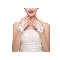 Beautiful Bowtie Womens Lace Bridal Gloves for Dress Driving Wedding