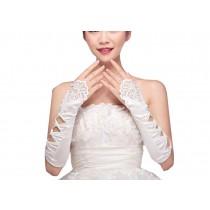Elegant White Bride Wedding Gloves Party Gloves for Women