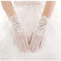 Beautiful Lace Women Wedding Gloves Bridal Gloves