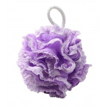 Loofah Bath Sponge Mesh Shower Pouf Exfoliates to Silky Skin - Purple
