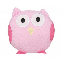 Children Body Pouf Sponge Cloth Pink Bird Design