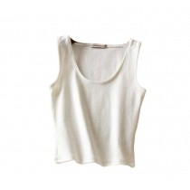 U-shape Collar Women Summer Short Camisole Cotton Soft Vest