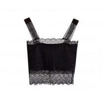 Black Lace Base Layer Women Vest Bare Midriff Women Camisole