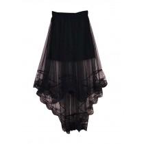 Summer Women Beach Lace Skirt Girl Dress Black