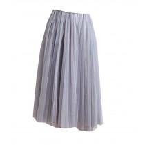 Beautiful Grey Lace Skirt Women Skirt Beach Dress
