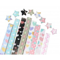 Love Heart Pattern 360 Sheets Paper Folding Craft 8 Colors
