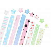 360 Sheets Origami Lucky Star Papers Dots Pattern