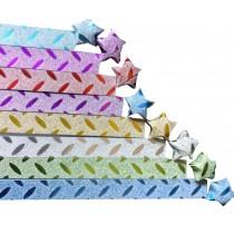 DIY Glitter Bling 160 Sheets Stars Folding Paper