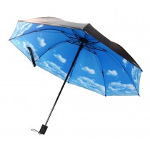 Blue Sky Pattern Umbrella Triple Folding Anti-uv Parasol
