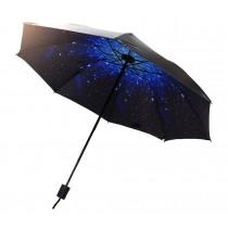 Rain Umbrella Folding UV Sun Parasol Starry Sky