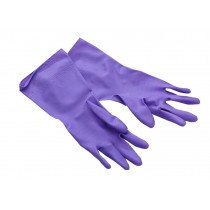 Durable Home Washing Gloves Protective Gloves for Women Purple