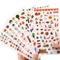 6 Sheets DIY Decorative Diary/Scrapbook/Phone/Album Stickers [G]
