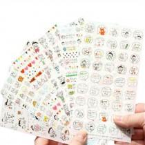 6 Sheets DIY Decorative Diary/Scrapbook/Phone/Album Stickers [J]