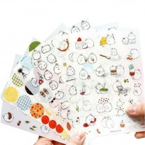 6 Sheets DIY Decorative Diary/Scrapbook/Phone/Album Stickers [K]
