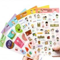 6 Sheets DIY Decorative Diary/Scrapbook/Phone/Album Stickers [L]