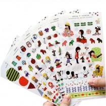 6 Sheets DIY Decorative Diary/Scrapbook/Phone/Album Stickers [M]