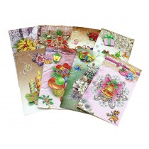 Set of 8 Christmas Cards Merry Christmas Greeting Cards Collection