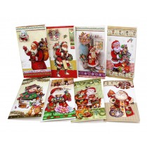 Merry Christmas Cards Pack of 8 Gift Cards Set