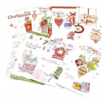 Merry Holiday Christmas Cards Set Include 8 Cards and Envelopes