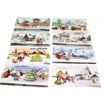 Assorted Winter Holiday Christmas Greeting Cards ?C 8 Pack