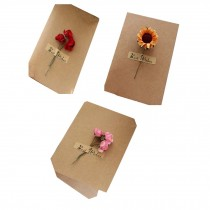 Beautiful Flower Greeting Cards/Wish Cards for Festivals Pack of 3
