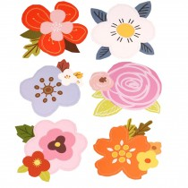 Pack of 6 Lovely Flowers Greeting Cards Set with Envelopes