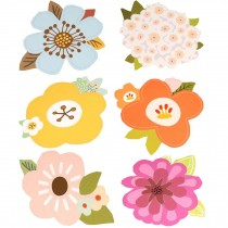 Lovely Flowers Greeting Cards Set with Envelopes 6 PCS