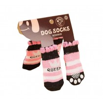 Cute Cats/Dogs Anti Slip Socks Warm Outdoor Pet Socks