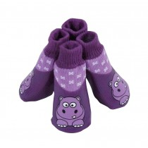 Elegant Purple Pets Socks Anti Slip Cats/Dogs Socks