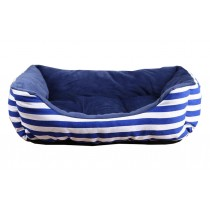 Fashionable Blue Striped Pet Beds for Dogs & Cats