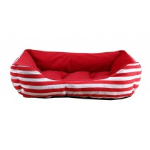 Pet Beds for Dogs and Cats Fashion Design - Red Stripe