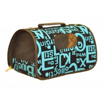 Dog Travel Carrier Bag - English Letters Pattern