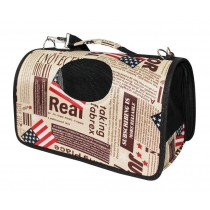 American Flag Pattern Cat Travel Handbag Shoulder Bag
