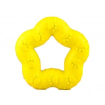 Chew Toy for Dog Rubber Dogs Play Toys Sound Toys- Yellow