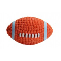 Latex Material Dogs Chew Play Toys Rugby Design
