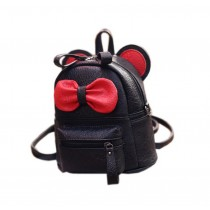 Cute Toddler Backpack Kindergarten Bag Travel Kids Backpacks Purse Bowknot Black