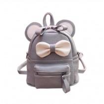 Cute Toddler Backpack Kindergarten Bag Travel Kids Backpacks Purse Bowknot Gray