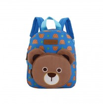 Cute Bear Kids School Bag Toddler Backpack Camping Travel Backpacks Purse Blue